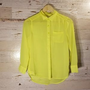 American Eagle Outfitters bright yellow blouse